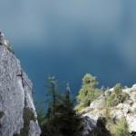 Ausstieg direkt beim Gipfel
