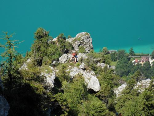 Klettersteig Mahdlgupf : Attersee klettersteig mahdlgupf