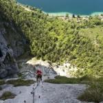 Klettersteig Mahdlgupf direkt am Attersee