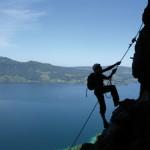 Kletterer am Mahdlgupf