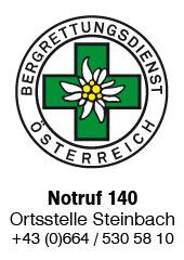 Bergrettung Steinbach Notruf 140